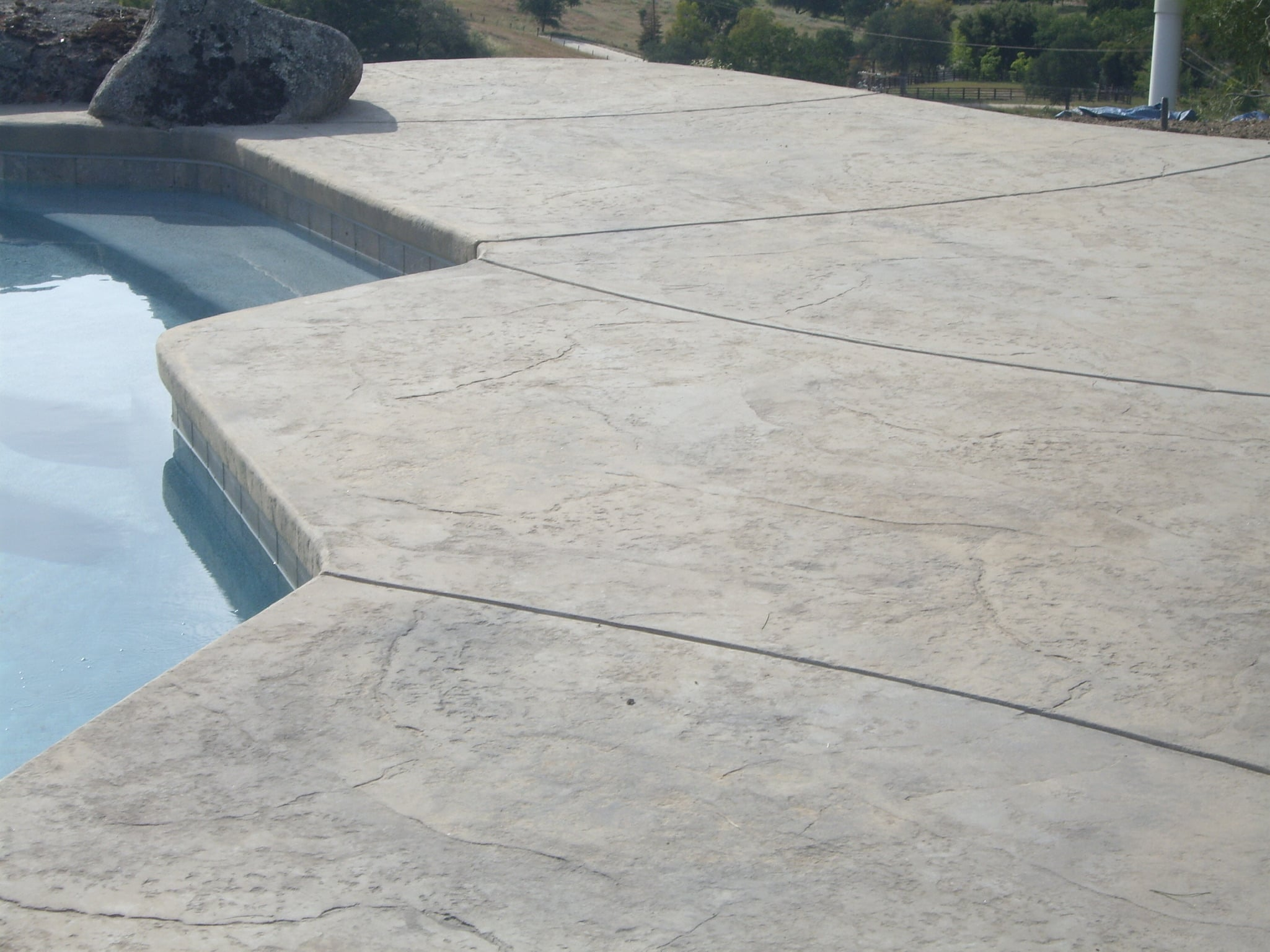 Old Granite Stamp, natural grey w/stone grey accent. Unsealed